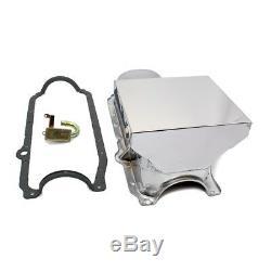 86-02 Chevy 350 Chrome 7qt Drag Style De Carter D'huile 1 Pc Principal Sbc / Std. Joint De Ramassage