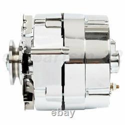 Alternateur Pour Chrome Bbc Sbc Chevy Street Rod 110 Amp 1-wire 240-204-3dc 12v