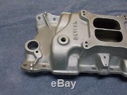 Apport En Aluminium Sbc Weiand Manifold 7502 Petit Bloc 283 327 350 Chevy