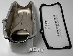Bac À Huile Chrome Sb Chevy Sbc Avec Boulons Et Joints D'étanchéité 4qt 283 327 307 350 400 Hot Rod