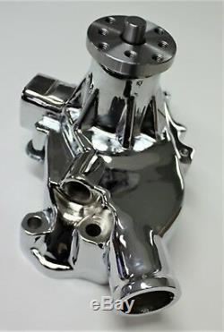Chev Small Block Sbc Pompe À Eau Chromé Alliage Short Pump Sbc 283-327-350-400