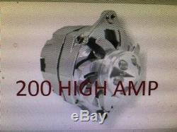 Chevrolet Gm Cadillac Chrome Sbc Bbc 1 Chevrolet Wire Alternateur 200 Amp High Sortie