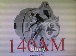 Chevrolet Gm Gm Sbc Bbc Chevy 1 Wirenew Hd Chrome Alternator High Output 140amp