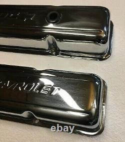 Chevrolet Logo Chrome Valve Couvre Small Block Vintage Bowtie Short Paire