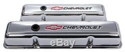 Chevy 283 327 305 350 400 Petit Kit De Couvercle De Soupape Court Bloc Steel Bowtie Chrome