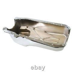 Chevy Petit Bloc 1986-up Chrome Oil Pan 283 305 327 350 400 V8 Stock Sbc Hotrod