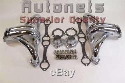 Chevy Sbc Hugger En Acier Chrome Chevrons 265 283 305 307 327 350 Impala Hot Rat Rod