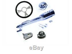 Chrome 28 Manuel Colonne De Direction Inclinable Kit Avec Colonne 3.5 Chute Bbc Sbc Chevy
