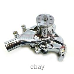 Chrome Aluminium Small Block Chevy Long Water Pump Lwp Sbc High Volume Mécanique
