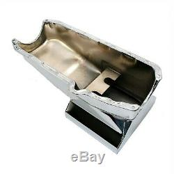 Chrome Drag Race Style Oil Pan 7qt 58-79 Sbc Chevy 283 327 350 400 Small Block