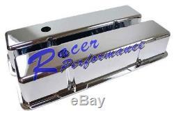 Chrome En Fonte D'aluminium Petit Bloc Chevy Valve Cover 305350327400 Lisse Grand Sbc
