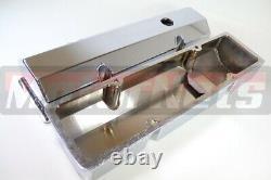Chrome Fabricate Aluminum Valve Cover Sbc Small Block Chevy Tall Billet Rail
