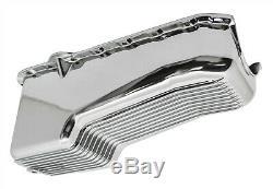Chrome Fini Aluminium Ailettes 4qt Carter Pour 80-85 Chevy Small Block 305-350