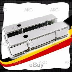 Chrome Lisse En Aluminium Couvre Valve Grand Pour 58-86 Chevy Sb 283 305 327 350