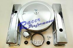 Chrome Petit Bloc Chevy Moteur Dress Up Kit+air Cleaner Valve Housse Sbc 350