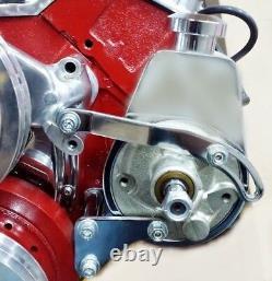 Chrome Petit Bloc Chevy Power Steering Pump Mounting Bracket Gm Sbc 350 Swp Lwp