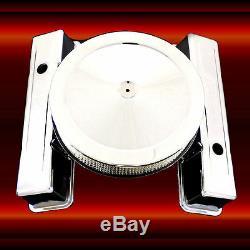 Chrome Sb Chevy Matching Covers Valve Et Filtre À Air Pour 327 350 383 400 Grand