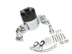 Chrome Small Block Chevy Electric Water Pump 350 Ewp Sbc Débit À Volume Élevé