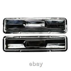 Chrome Small Block Chevy Valve Couvre, Paire