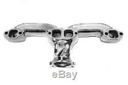 Collecteur D'échappement En Fonte Chromée Chevy Ram Horn Sbc Hot Rod