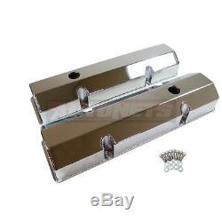 Couvercle De Valve En Aluminium Chromé Fabriqué Par Sbc 283 305 327 350 400 Small Block Chevy