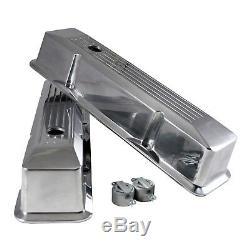 Couvercle De Vanne Haut Enfoncé Cylindre En Aluminium Chrome 58-86 Sbc Chevy 327 350 400