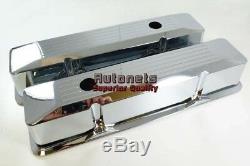 Couvercle De Vanne Sbc Small Block Chevy En Fonte D'aluminium Chromée