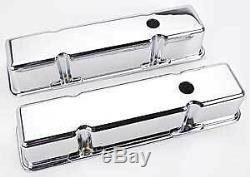 Couvre Rocker En Aluminium Lisse Chrome Sbc Chev Drag Hotrod Impressionnant Chevy Burnout