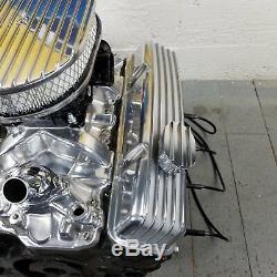 Couvre-soupapes De Kit De Moteur De Filtre À Air Chrome Sb Chevy 12 Pcv Breathers 350 Sbc V8
