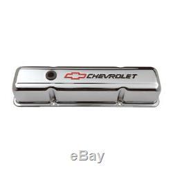 Couvre-valve Proform Set 141-905 Bowtie En Acier Chromé Pour Chevy 265-400 Sbc