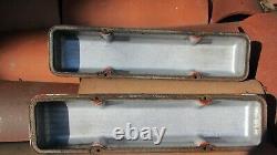 Edelbrock Sbc Curved Script 50s Sand Cast Aluminium Valve Covers 283 327 350 400
