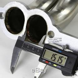 Fit 77-84 Rounded-line Sbc V8 Inox Collecteur De Course Long Tube Embase / Échappement