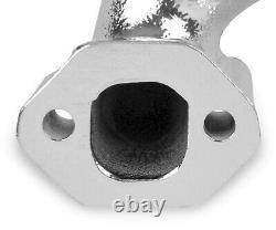 Flowtech 11704-2flt Petit Bloc Chevy Rams Horn Exhaust Manifolds Chrome