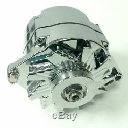 Gm Chevy Chrome 110 Amp 10si V-courroie 1 Oem Alternateur De Fil 55-86 Sbc Bbc Hot Rod