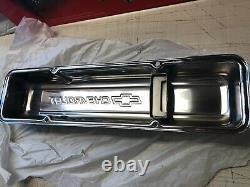 Gm Performance Parts Chevrolet Chrome Sbc Valve Couvre 58-86 Nouveau Gm Oem 12341670