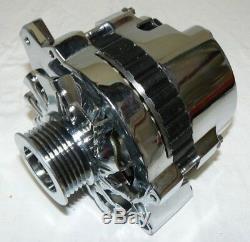 Gm Sbc 71-86 110 Amp 10si 1 Un Fil Alternateur Avec Billet Support Lwp Chrome