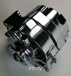 Gm Style Chrome 1 Un Ou 3 Trois Fils Sbc Bbc Chevy Pontiac Alternateur 120a Ampère