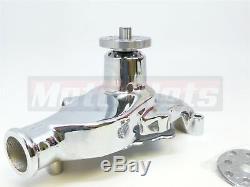 High Flow Chrome Court De Pompe A Eau En Aluminium Swp Chevrolet Sb 283-350 Sbc Rue Rod