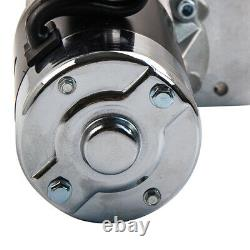 High Torque Chrome Mini Starter Fit Pour Chevy Sbc Bbc 153/168 Dent 18493