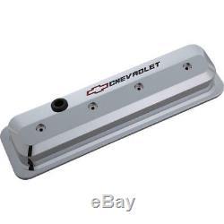 Jeu De Couvercles De Soupapes Proform 141-844 En Aluminium Coulé Au Chrome Pour Chevy 265-400 Sbc