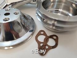 Kit De Poulies En Aluminium Pour Pompe À Eau Et Billettes En Aluminium Sb Chevy Sbc Polished