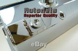 La Soupape De Saleté De Voie En Aluminium Fabriquée Par Chrome De Petit Bloc Chevy En Aluminium Couvre Sbc
