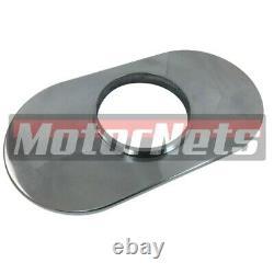 Lavable 15 Ovale Chrome Ball-mill Aluminium Air Cleaner Street Rod Chevy Sbc Bbc
