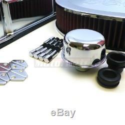 Moteur Sb Logo Sbc Chrome 350 Logo Dress Up Kit Avec Couvercle De Soupape Haut Lavable