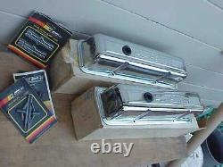 Nos Chevrolet 350 Chrome Gm Valve Couvre Camion Haut 73-87 Bowtie 14011075 Sbc