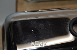 Nos Chrome Set Of Gm # 14011075 Petit Bloc Chevrolet Bowtie Logo Valve Covers