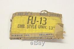 Nos Vintage Namsco Accessoires De Camion De Voiture Chrome Enjoliveur Roue Centre Cap Paire