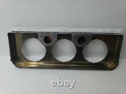 Nos Vintage Stewart Warner Chrome 3 Trous Sous Panneau De Jauge De Dash 2 1/8 811653-d