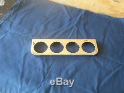 Nos Vintage Stewart Warner Chrome 4 Trou Sous Gauge Dash Panel & Boîte Originale