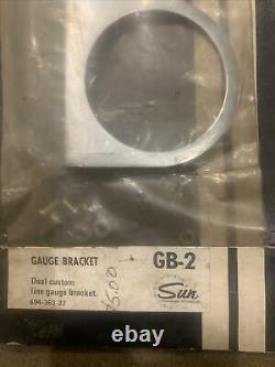 Nos Vintage Sun Guage Accessoires Braket Kit Gb-2 Chrome Gasser Hot Rat Rod Drag